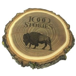 Natural Wood Log Coaster - Set of 4