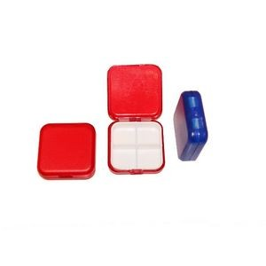 4 Grid Compartments Pill Box Container Dispenser